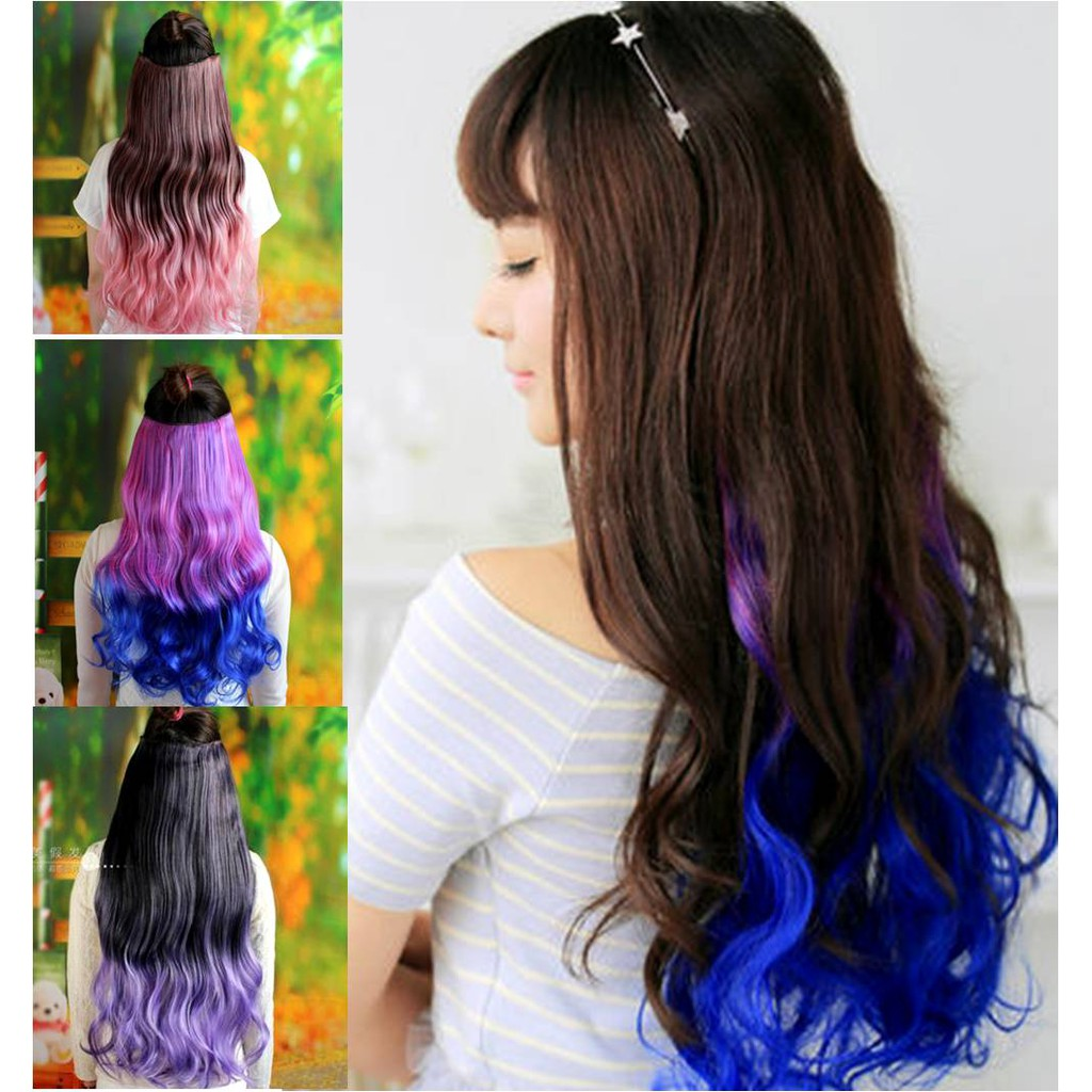 Colour Wig extension*Z12/ rambut palsu/ ready stock