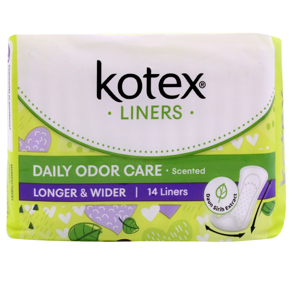 Kotex Fresh Liners Longer & Wider Scented 14 Liners