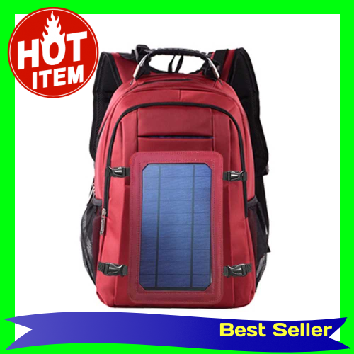 Solar Power Outdoor Charging Backpack with USB Port Waterproof Breathable Travel Bag Wear-resisting Large Capacity Back