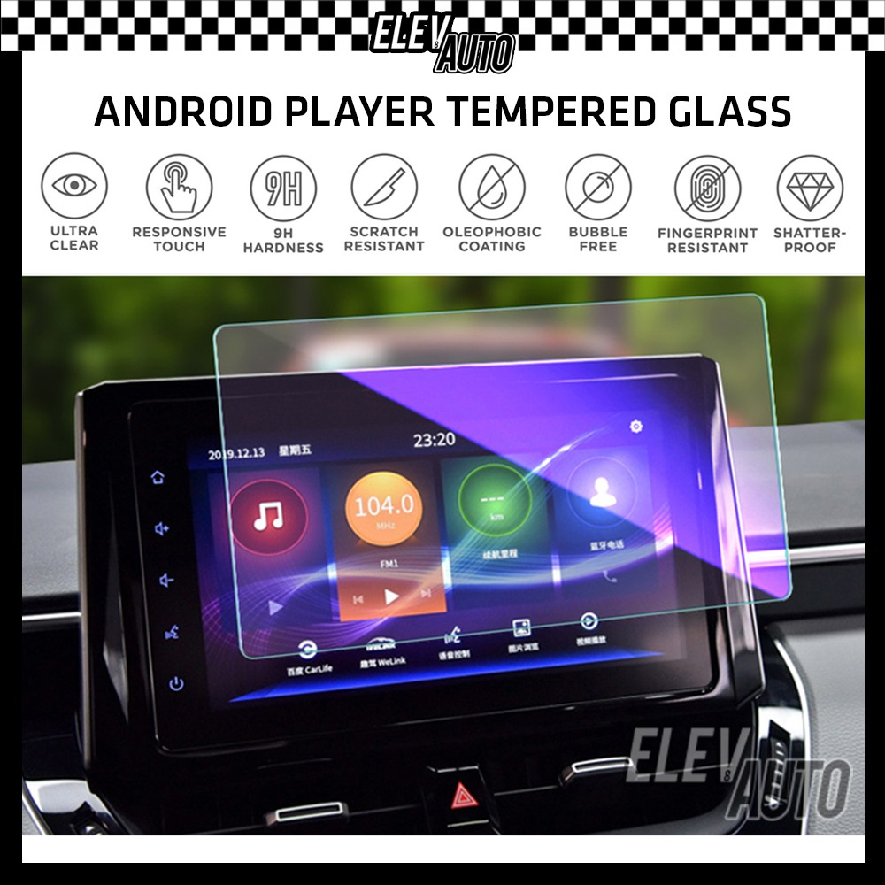 """Android Player Premium Tempered Glass Screen Protector (9""""/10.1"""")"""