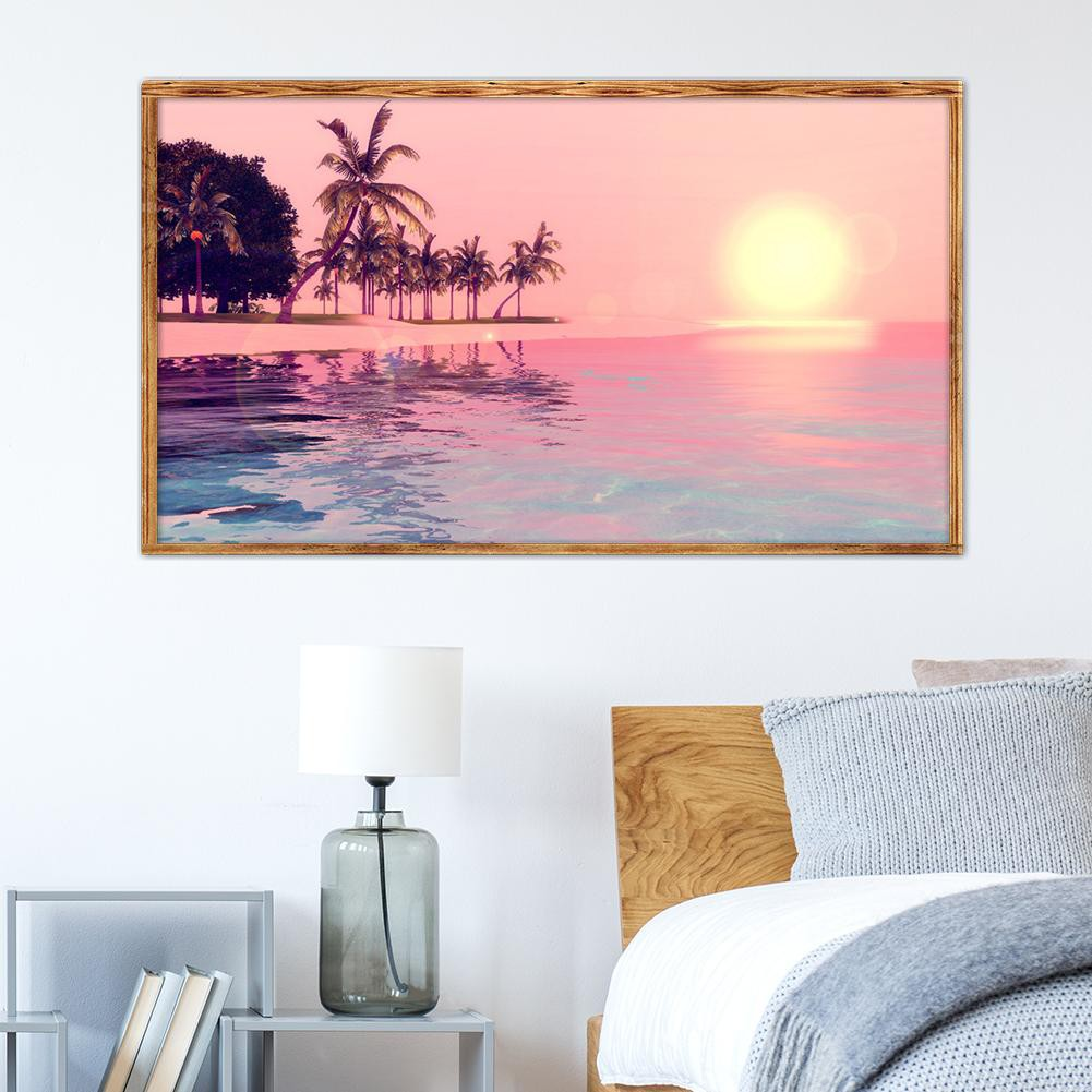 Full 5D Drill Diamond Painting Cross Stitch Love And The SeaKits Art Decoration