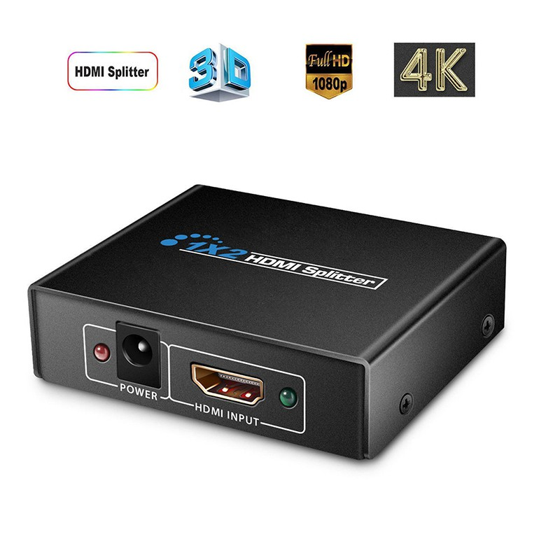 Leshp Black Portable Plug And Play Low Power Consumption 4k Hdmi Switcher 1 In 2 Out Two Port 1.4v Splitter Box Hub Kvm-switches