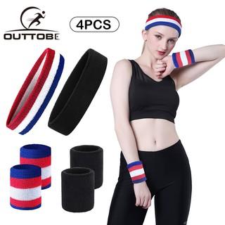 Set 3pcs headband sweatbands head wrap elastic band tennis gym Running Yoga