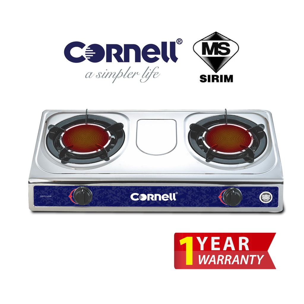 Cornell InfraRed Gas Stove - Smokeless and Flameless CGS-G150SIR