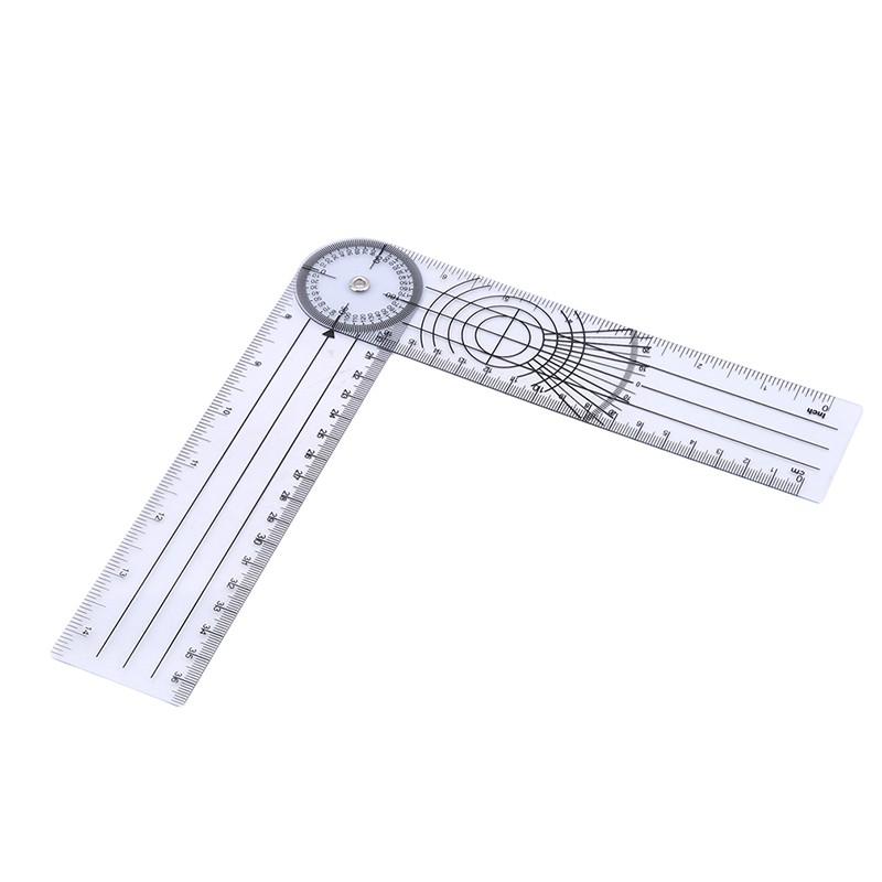 Liukouu Rulers Folding Aluminum Alloy Ruler 0-300mm Ruler Simple 90/°Folding Metal Stationery Rule