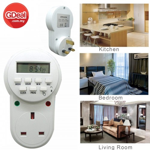 Malaysia Plug Electronic Programmable Timer Switch Weekly Digital Timer(ETE-63A)