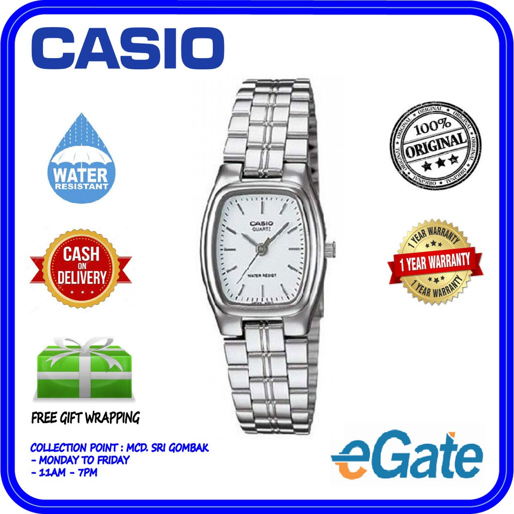 ac64a01ef Casio LTP-1169D-7A Analog Women's Analog White Dial Stainless Steel ...