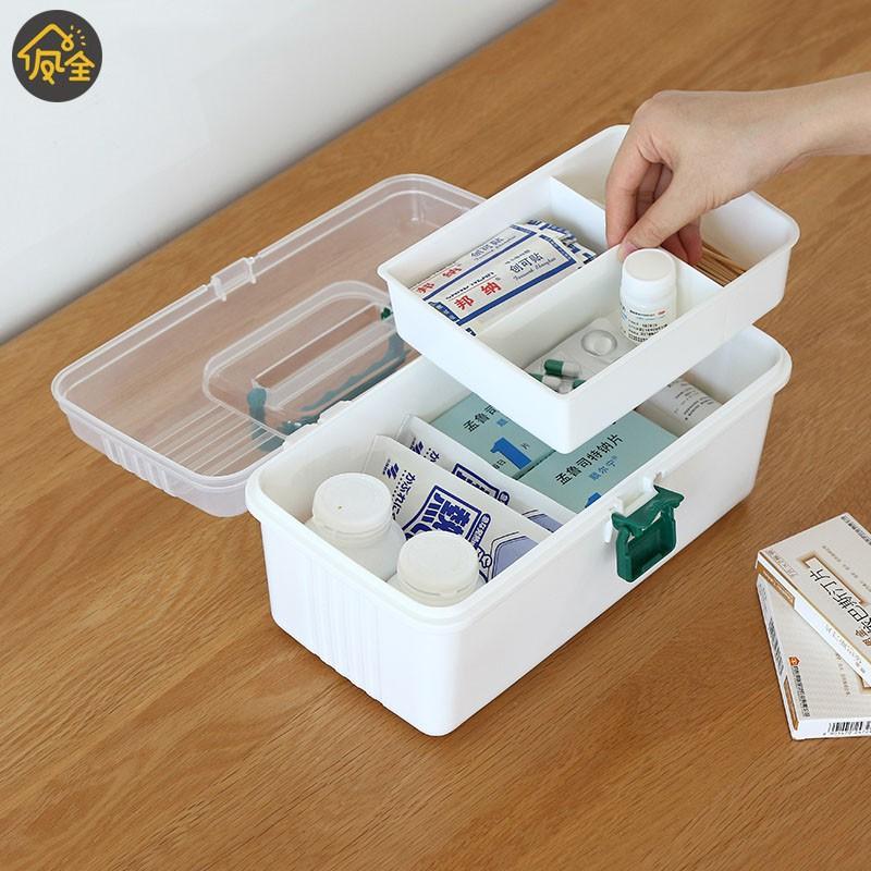 Medicine box First Aid Storage Box Storage Medical Gathering Emergency Kits