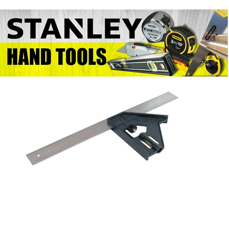 STANLEY COMBINATION SQUARE 46-012 12INCH MEASURE TAPE  (3 MONTH WARRANTY)