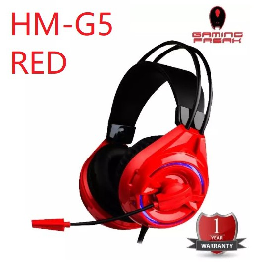 AVF Gaming Gears HM-G5 Crystal Clear Sound Headset -RED/BLACK