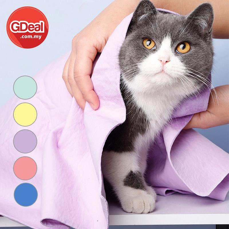 GDeal Multifuctional Pets Use Towel Reusable Animal Bathing Cloth With Storage Box Pembersihan Tuala (Random Colour)
