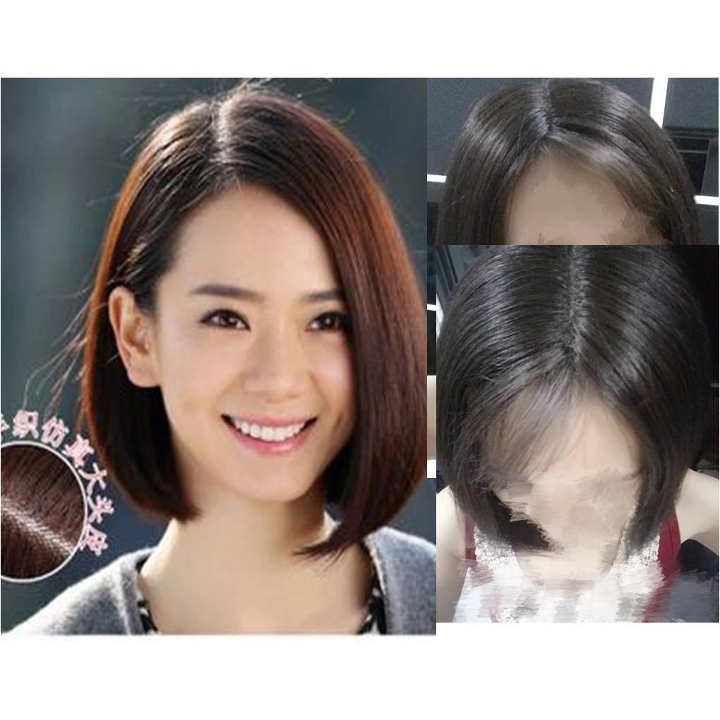 READY STOCK 100% real human hair BOBO wig Real item photos chemo wig