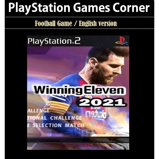 PS2 Game Winning Eleven 2021 Lite, WE 2K21, English version, Football Game / Playstation 2