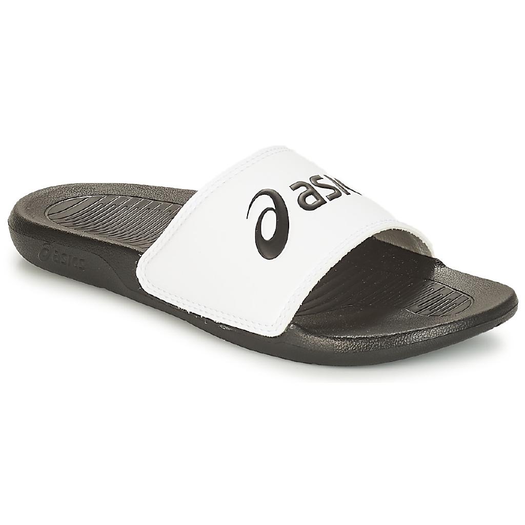 half price online shop online here Asics summer new men's and women's slippers white beach sandals