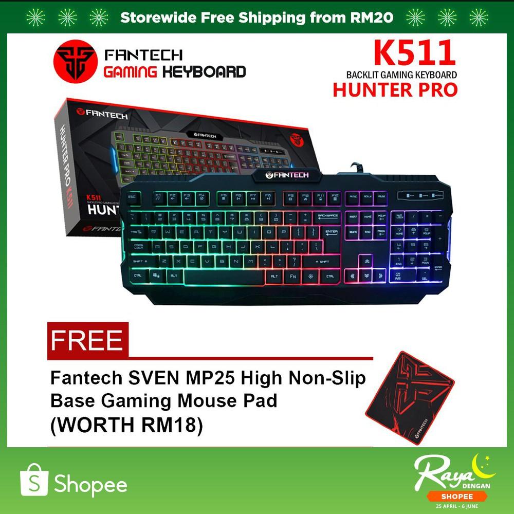ORIGINAL FANTECH K511 HUNTER PRO Backlit Pro Gaming Keyboard for GAMERS  (NEW)