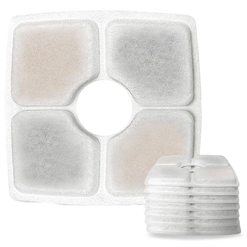 ☀Ready Stock❀Square Filters Fountain, 8 Pack Cat Fountain Filters, Suitable for 2.5L Pet Flow
