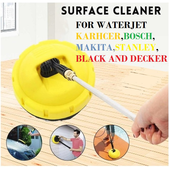 SURFACE CLEANER FLOOR BRUSH REPLACEMENT  FOR WATERJET KARCHER STANLEY BOSCH MAKITA BLACK AND DECKER HIGH PRESSURE WASHER