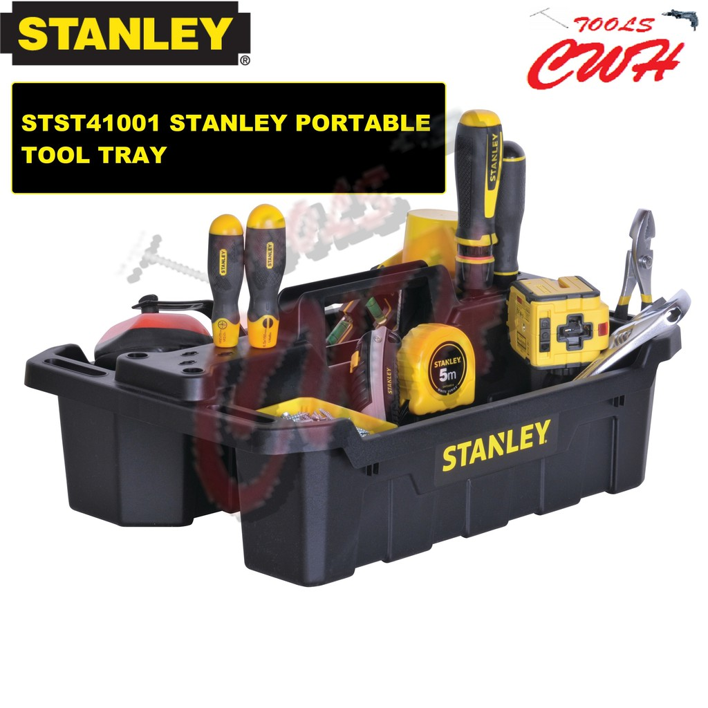 STST41001 STANLEY PORTABLE STORAGE TOTE TRAY TOOL TRAY 41001 WORKPRO DUFFEL PRODIY MYDIY TOPTUL SATAGOOD TOTAL REMAX