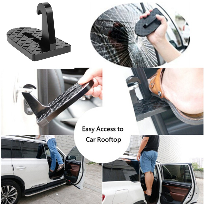Vehicle Rooftop Roof Rack Assistance Easy Acess The Door Step Hooked SUV Latch