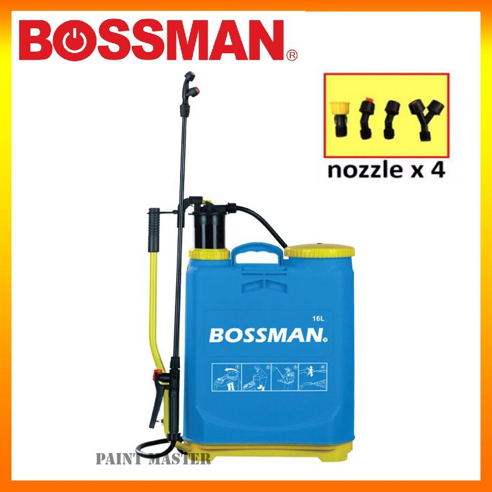 BOSSMAN BP16 KNAPSACK PRESSURE PUMP CHEMICAL SPRAYER 16L (6 MONTHS WARRANTY)