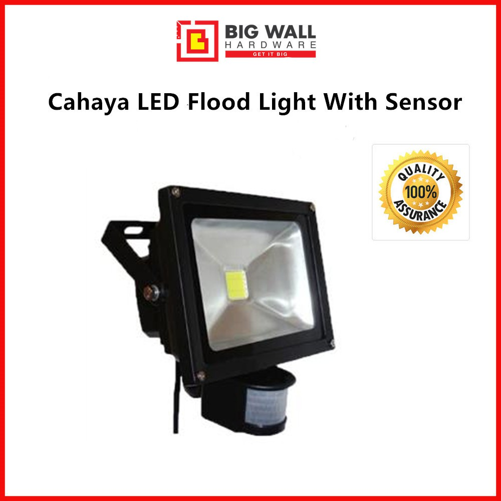 Cahaya LED Flood Light with Sensor - Warm White (10W )