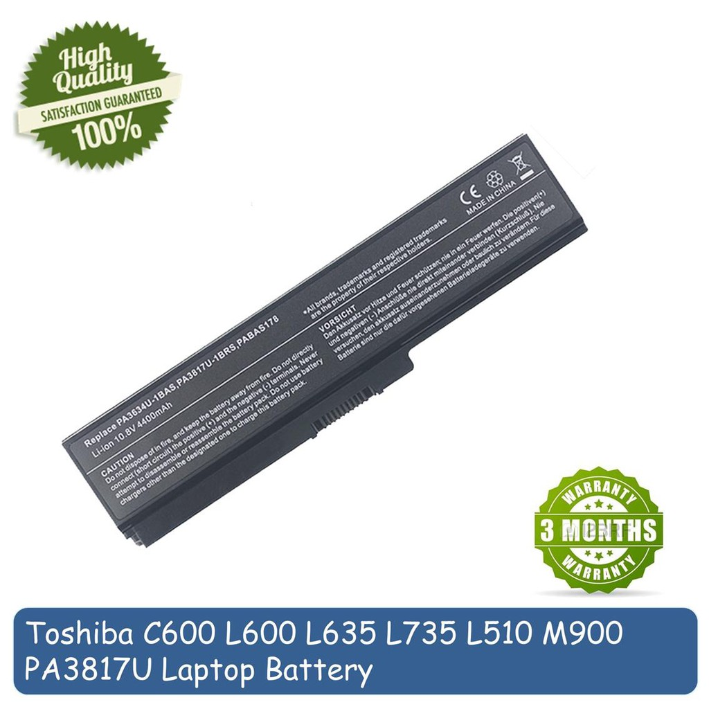 Toshiba Satellite L740 L745 L745D L775 PA3817U Laptop Battery