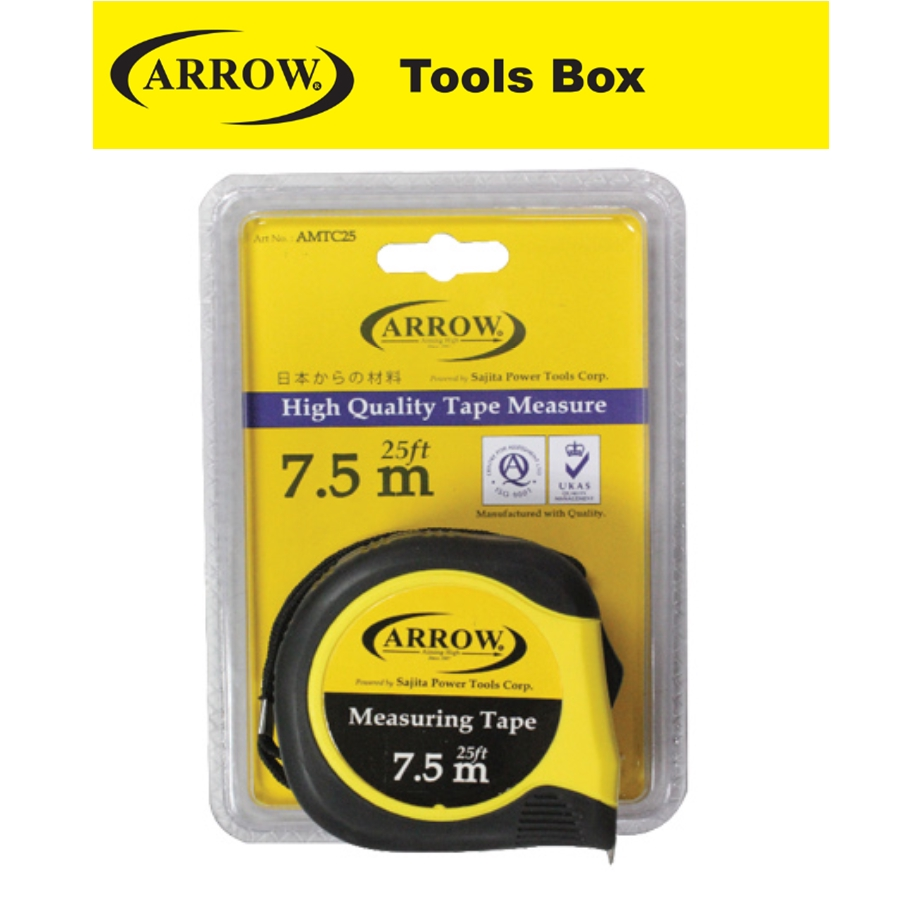 ARROW  HEAVY DUTY  MEASURING TAPE EASY USE SAFETY GOOD QUALITY