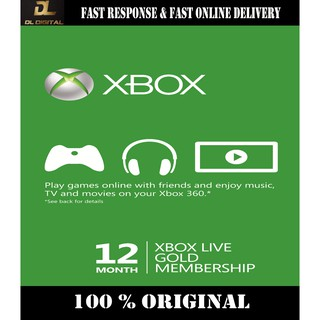 Microsoft Xbox Live Gold Subscription Redeem Code (3 Months