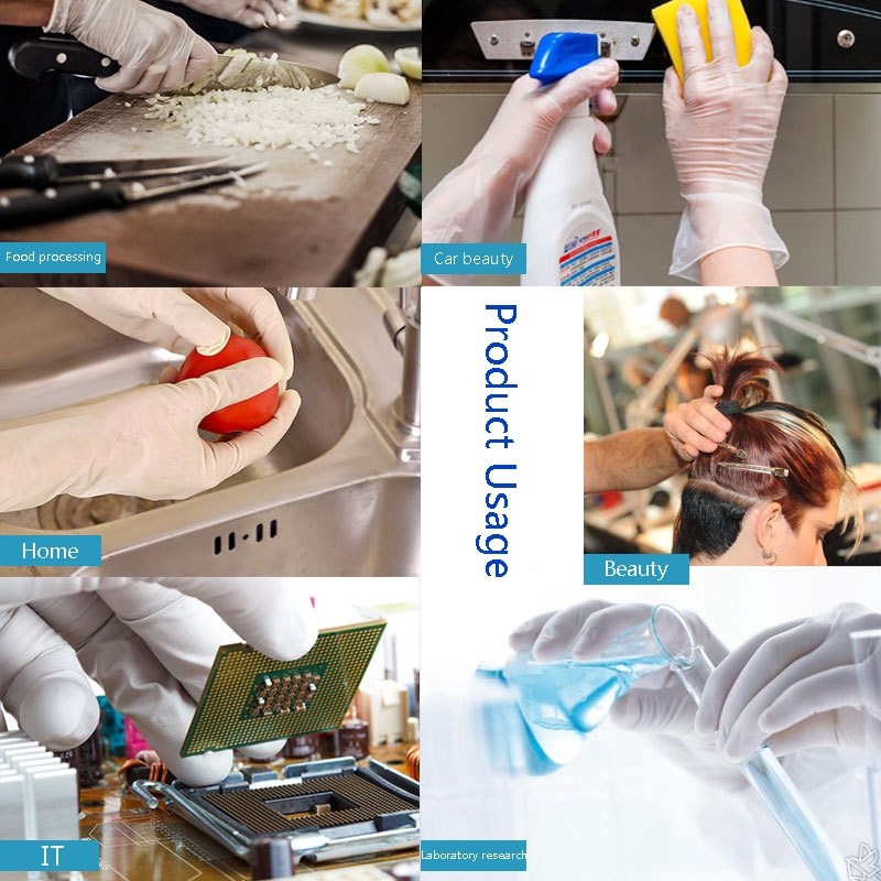 10 Pair Powder Free Rubber Latex Free Medical Exam Gloves Comfortable Industrial Blue Rubber Gloves-Not Easy To Tear 1//5//10 Pairs Of Disposable Gloves