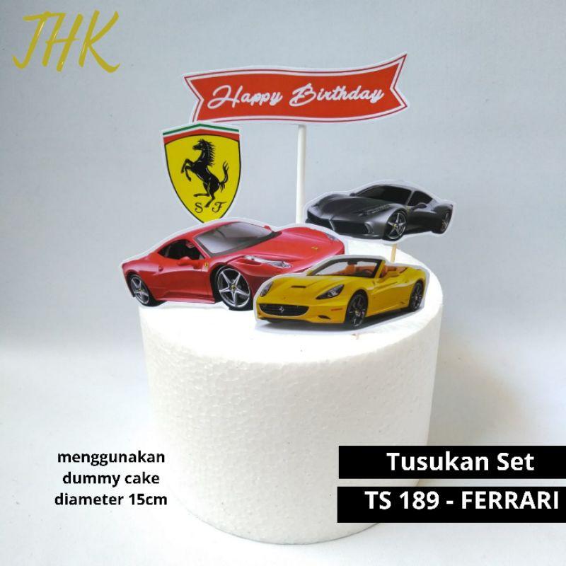 Ts 189 Ferrari Cake Topper Cake Decoration Ts 189 Hiasan Kue Topper Cake Ferrari Shopee Malaysia