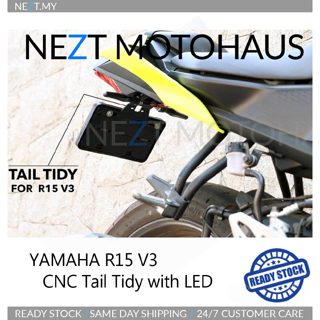 Yamaha R15 V3 Tail Tidy Plate Holder With LED