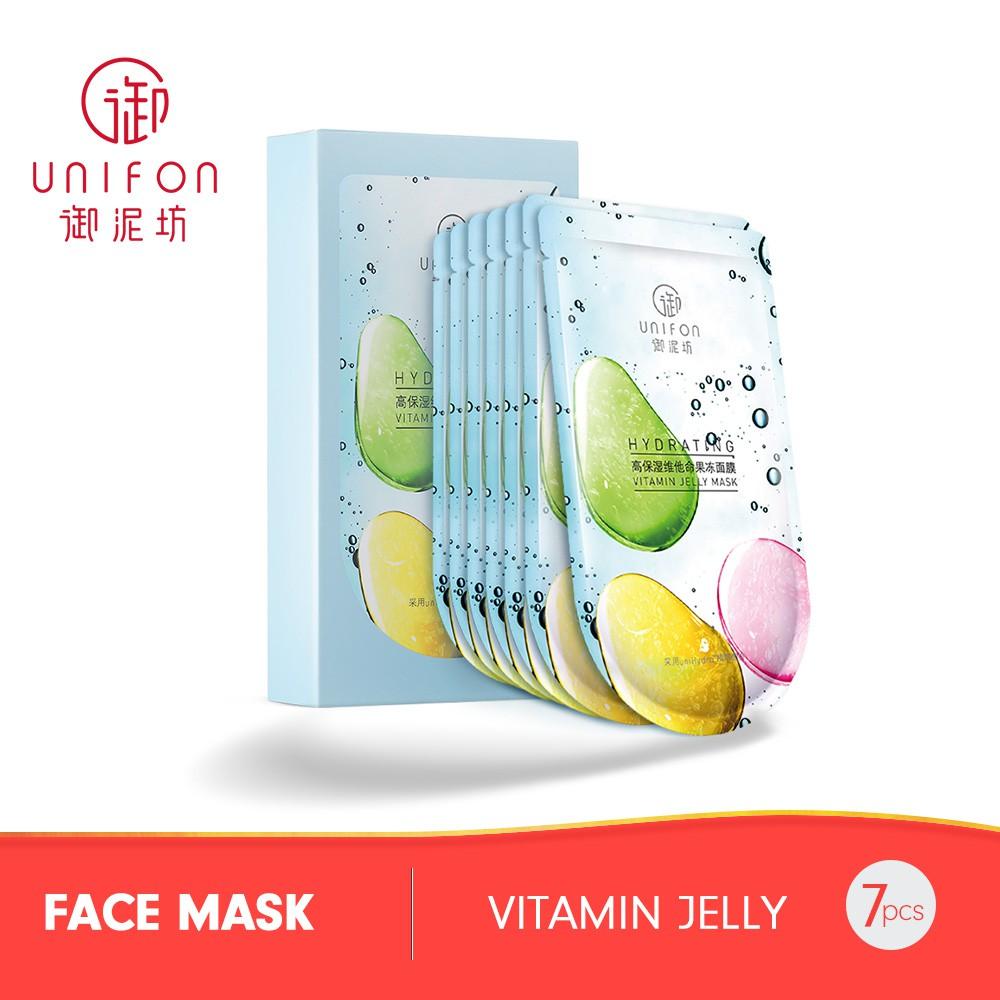 Unifon High Moisturizing Vitamin Jelly Mask (30ml x 7)
