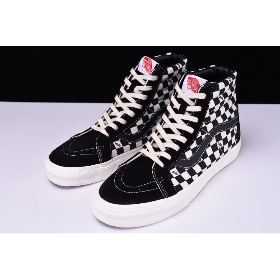 9571653aaa New Style Vans Unisex OG SK8-HI VAULT LX Checkerboard High-Top Canvas Shoes