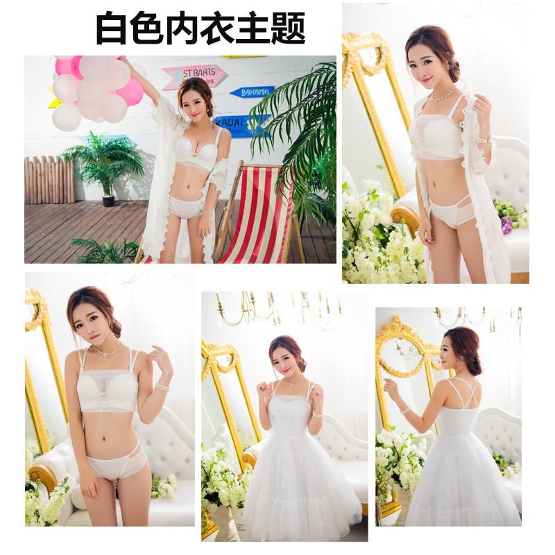 fdd45682de Lace bra breathable chest gather chest invisible stealth bra ...