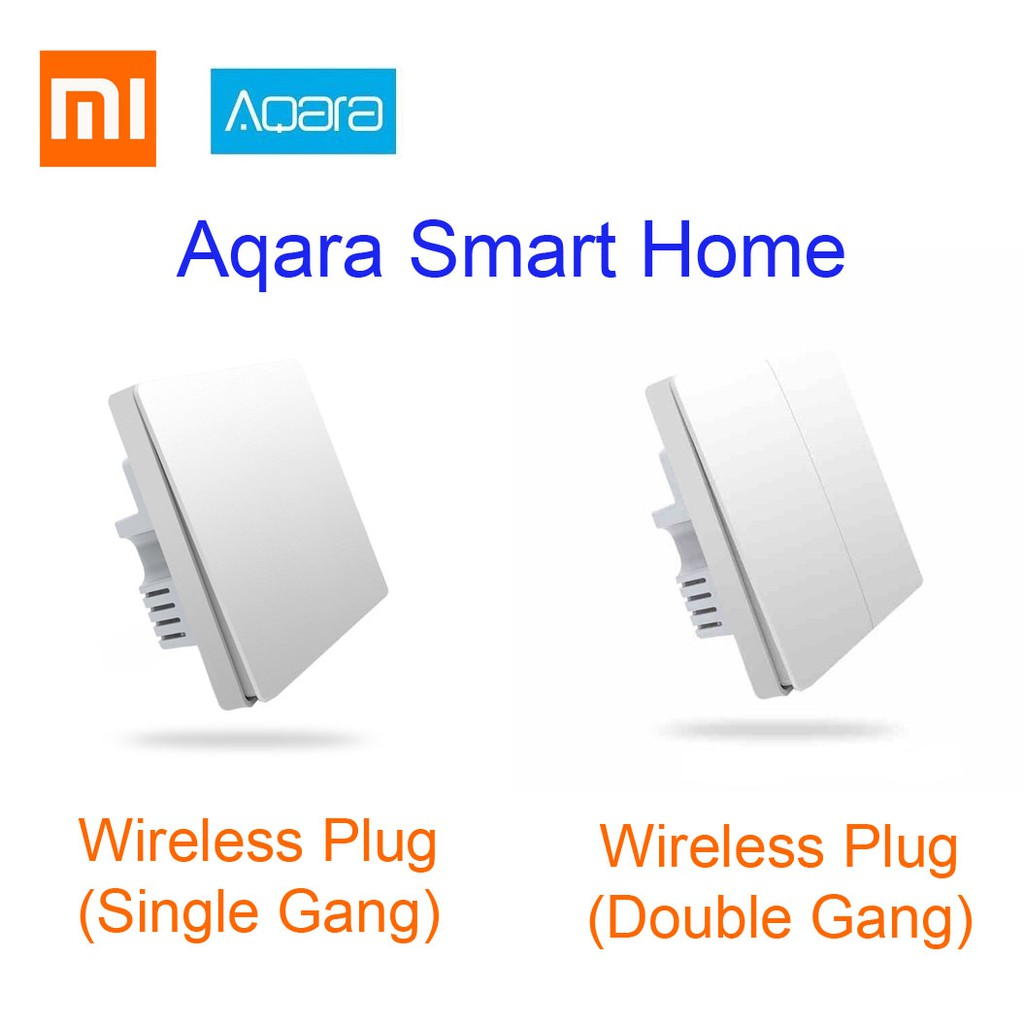XIAOMI Aqara Smart Home Light Control ZigBee Wall Switch Plug Single Double  Gang SINGLE FIRE Version