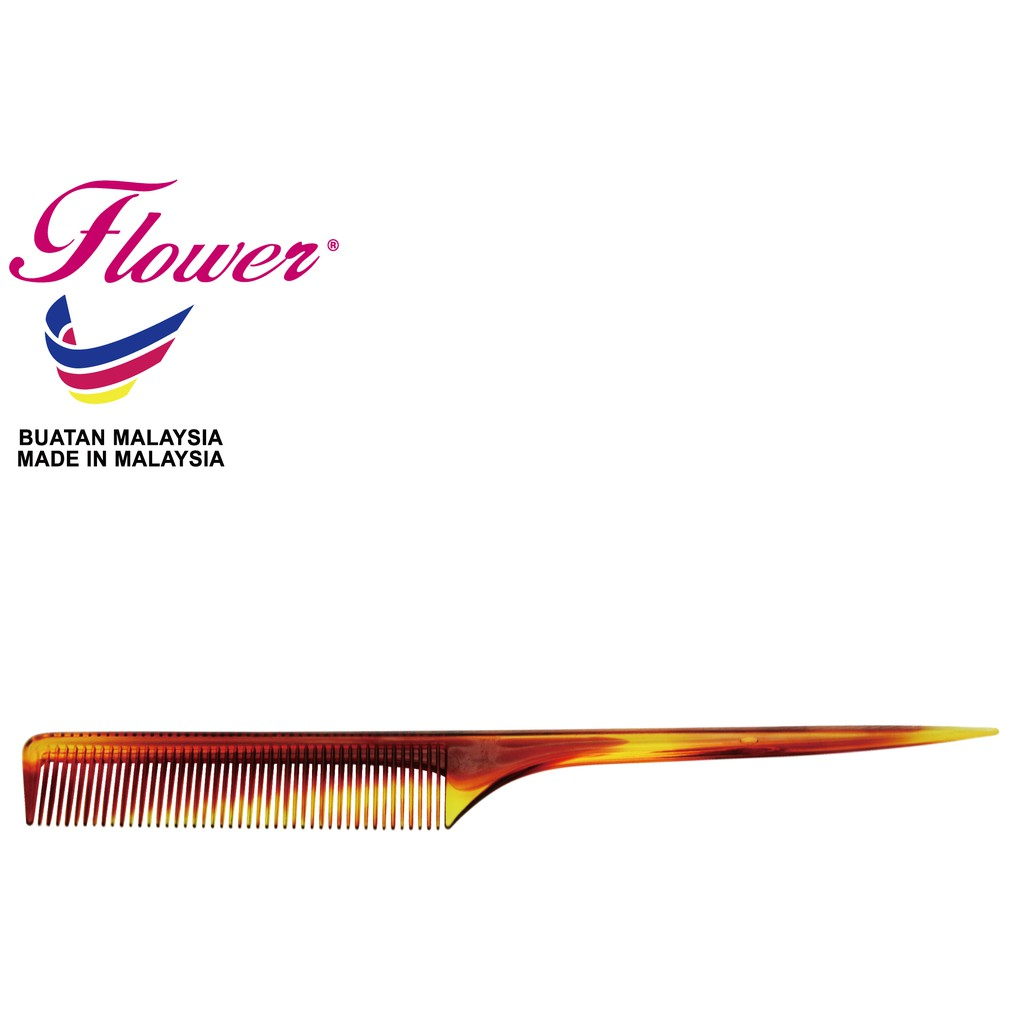 Flower Brush Double Colour Tortoise Comb and Pink Long Comb (Sikat/Berus Rambut/Balung/Sisir)