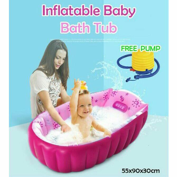 Baby Inflatable Bath Tub with Free Feet Pump
