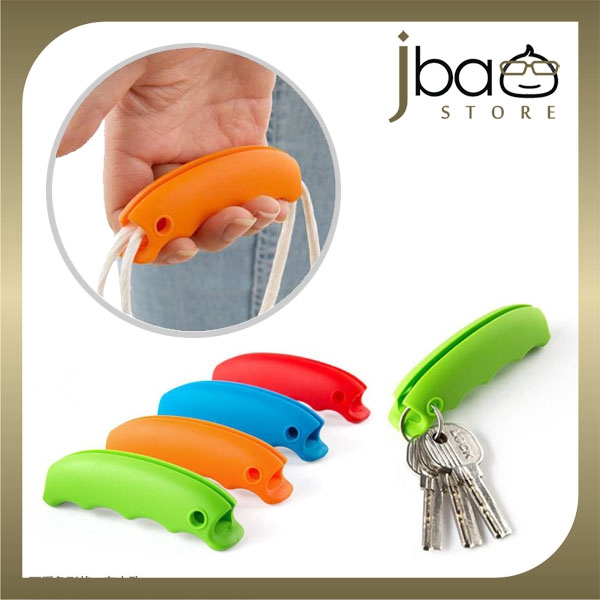 Silicone Shopping Bag Handle Holder Pressure Relief Key Chain