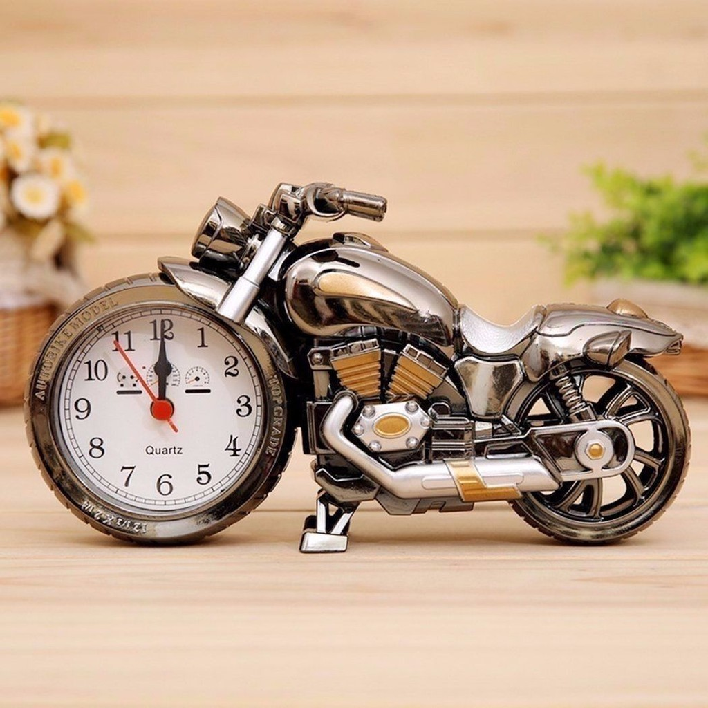 Creative Motorcycle Alarm Clock Cool Motorbike Design Home Novelty Birthday Gift
