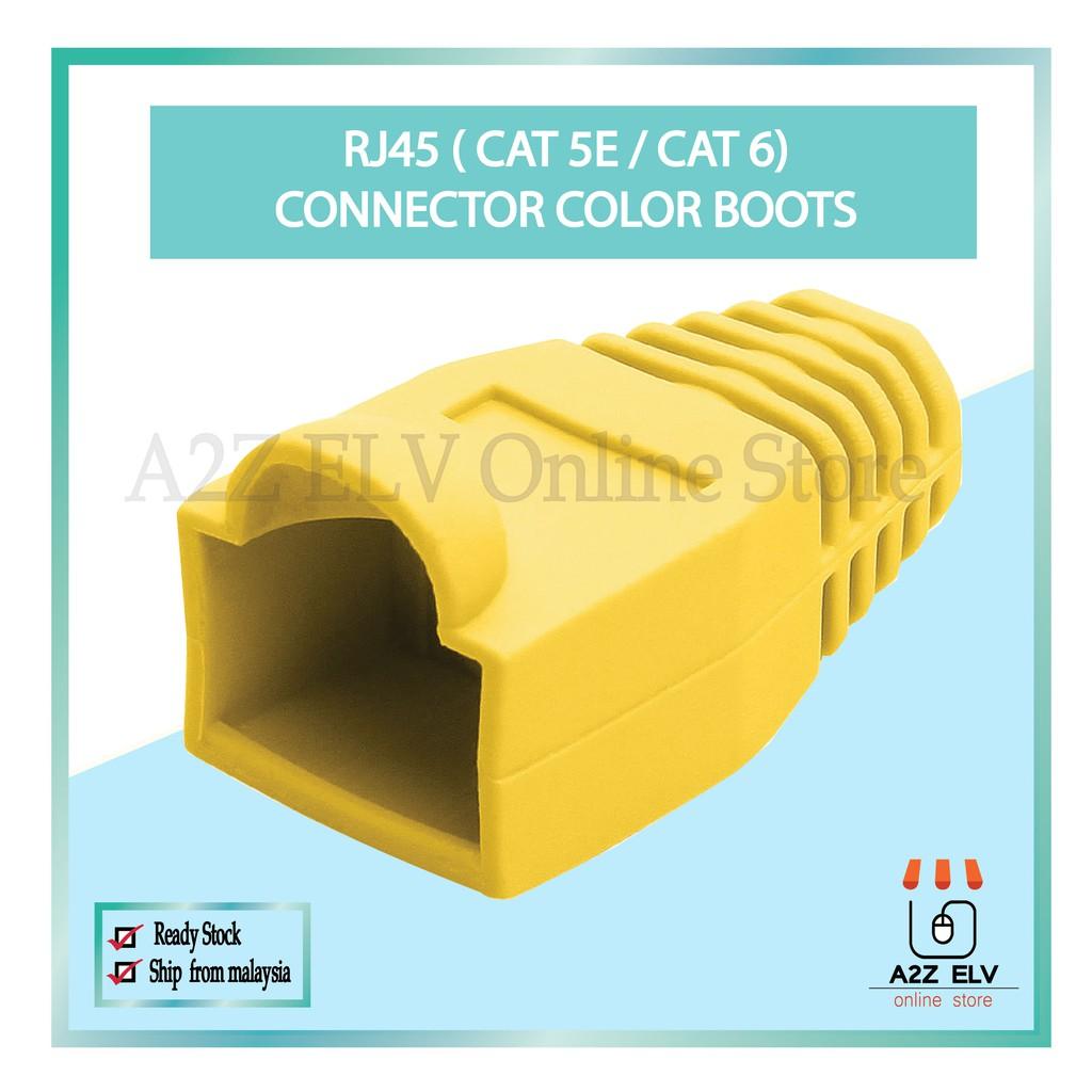 Cat 5E / Cat 6 - RJ45 Connector Color Boots -1 Pack 100 UNIT c/w YELLOW COLOR !!!