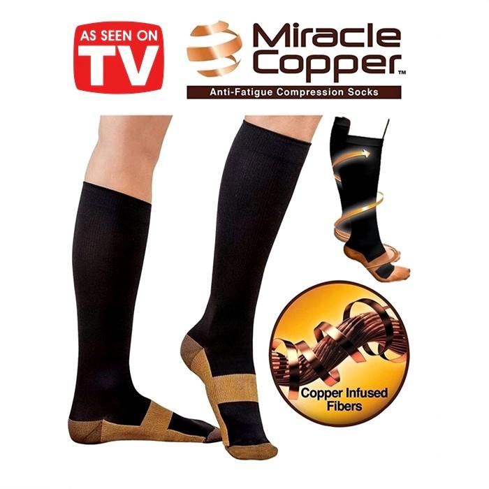 Comfortable Relief Soft Unisex Miracle Copper Anti-Fatigue Compression Socks