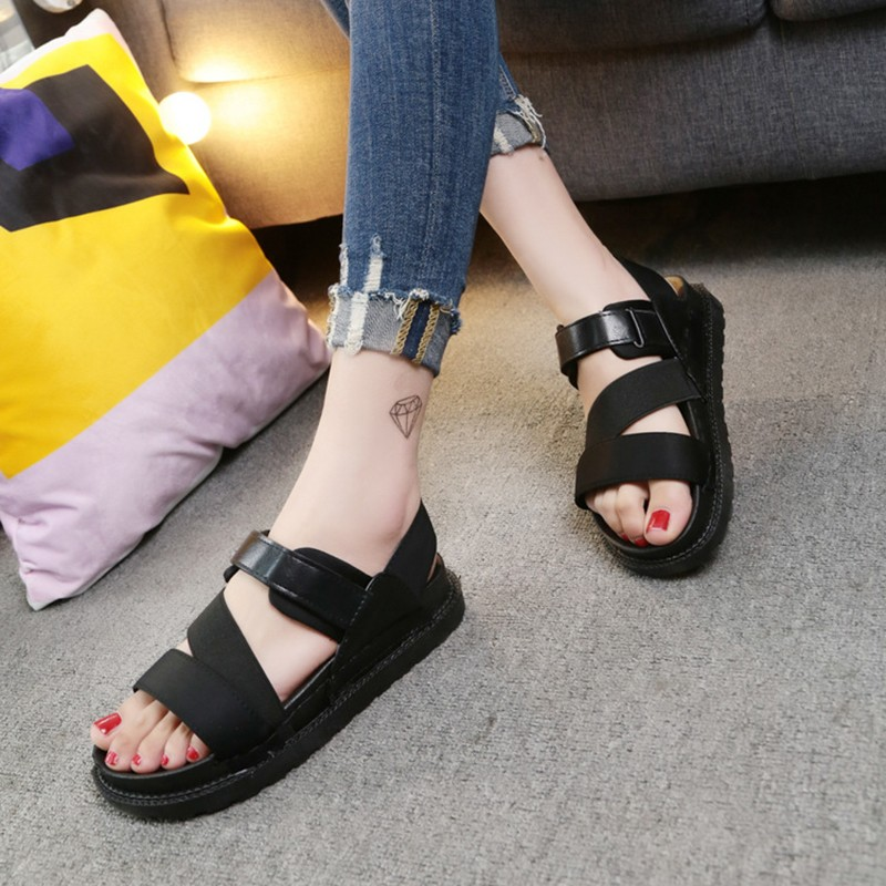 9f7a6513149390 Women s Cute Sandals - Black Brown Creamy White WS 019