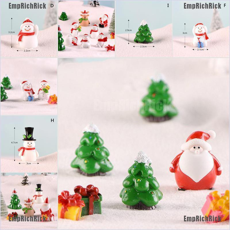 Miniature Dollhouse FAIRY GARDEN ~ Set of 2 Snow Covered Landscape Trees ~ NEW