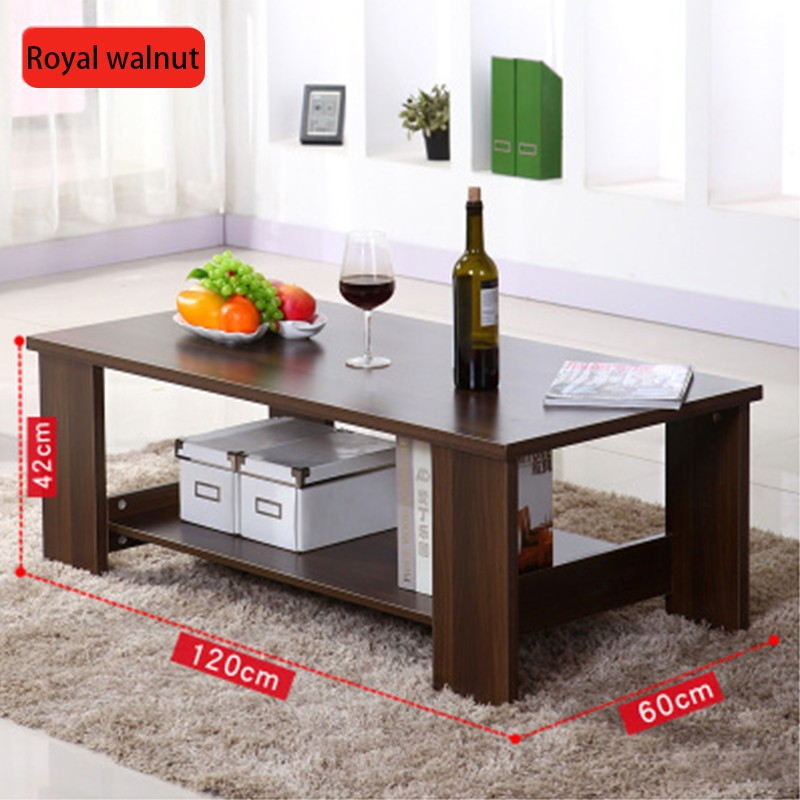 Simple Modern Living Room Side Storage Simple Coffee Table Double Wooden Small Coffee Table Small Apartment Table Shopee Malaysia