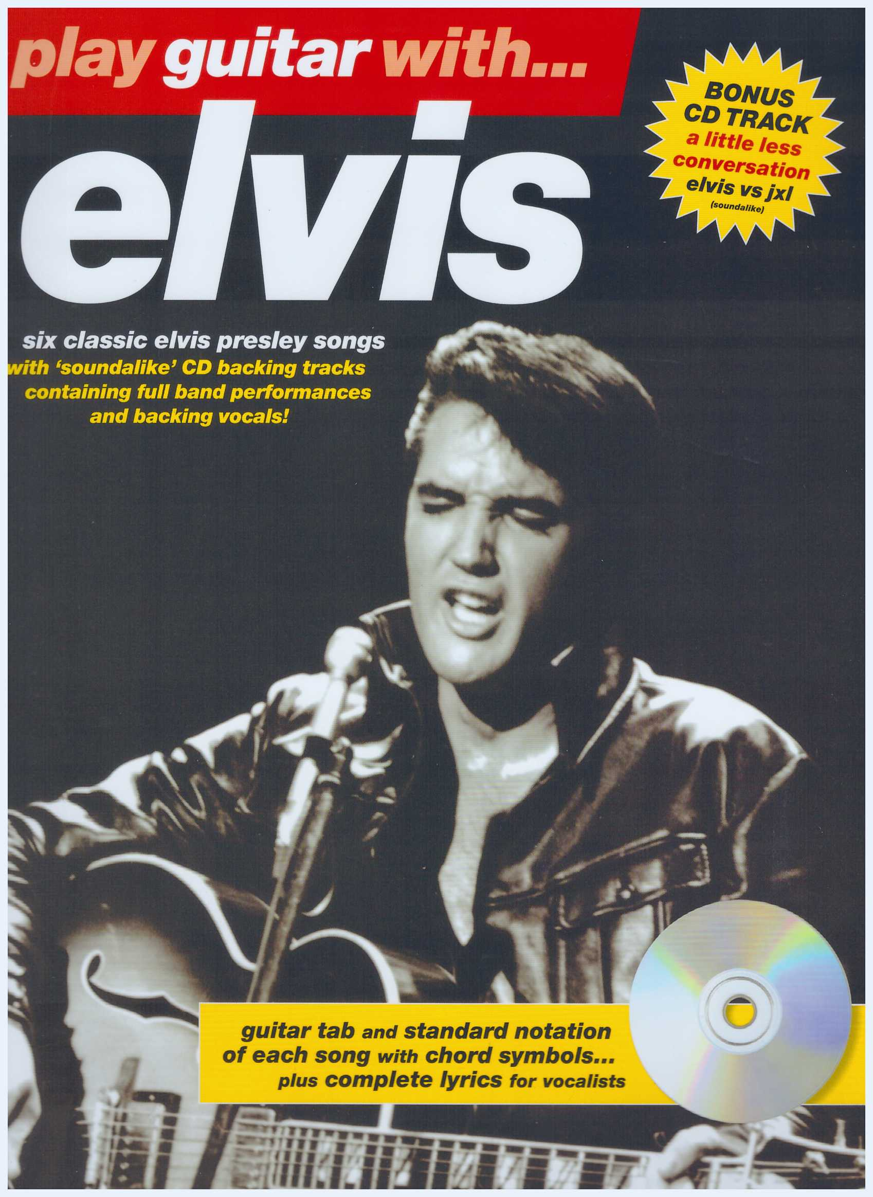 Play Guitar With...Elvis/ Pop Song Book / Vocal Book / Voice Book / Guitar Book / Gitar Book / Tab Book