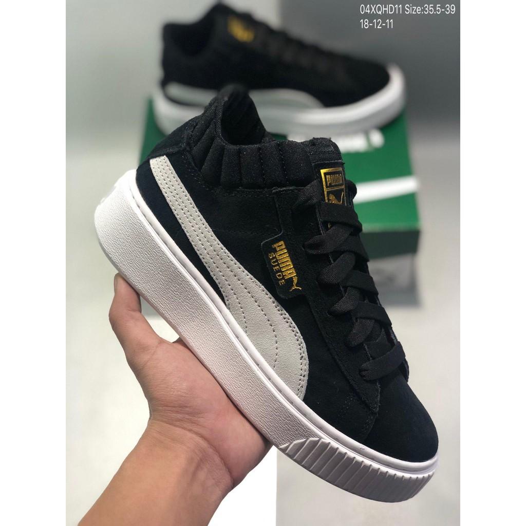buy popular 62151 2feb5 Puma Basket Platform Velour Suede Rihanna Middle 2nd Platform Platform Shoes