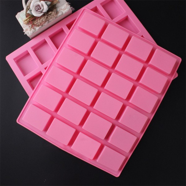 6Cavity Rectangle Silicone Craft DIY Ice Candy Chocolate Cake Mould KI