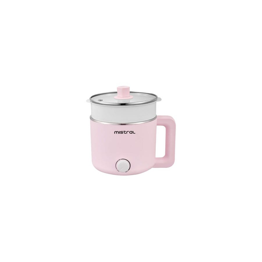 Mistral Multi-pot Electric Cooker (1.5L) With Steam Tray MEC3015 Mint/Pink