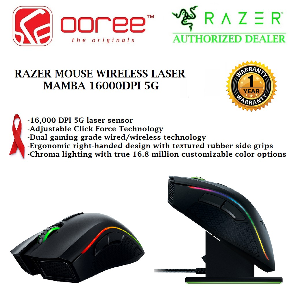 Genuine Razer Mouse Wireless Laser Mamba 16000dpi 5g Rz01 01360100 R3a1 Turret Living Room Gaming And Lapboard Rz84 01330100 B3a1 Shopee Malaysia