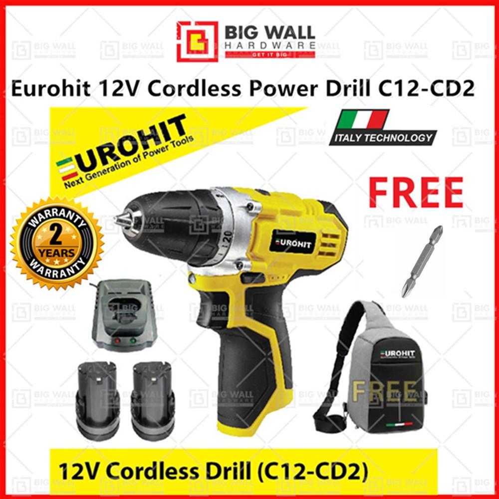 Eurohit 12V Cordless Power Drill C12-CD2 Big Wall Hardware
